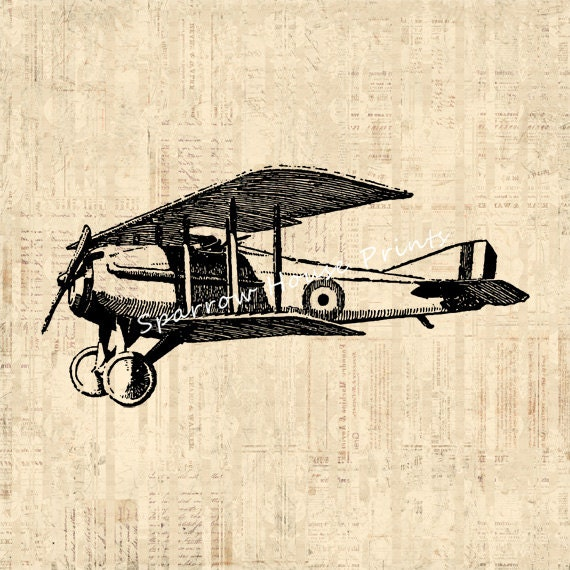 Vintage Plane Wall Decor : Antique airplane art print wall plane by
