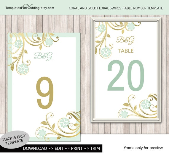 items similar to table number insert template wedding. Black Bedroom Furniture Sets. Home Design Ideas