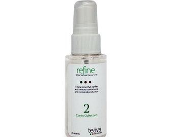 Natural Acne Treatment Facial Toner - Made with Organic White Tea and Organic Yarrow - Travel Size