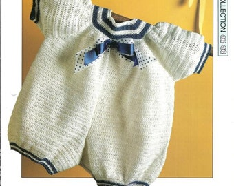 "Crochet pattern - ""Baby Blue"" romper suit - Instant download"