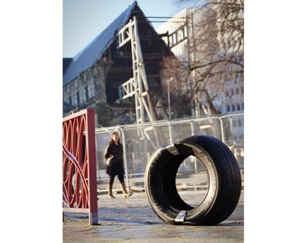 ReTyre Seating - 2 Seats. Turn a used tire into a Chair in 90 seconds using a set of stainless steel clips - Upcycle
