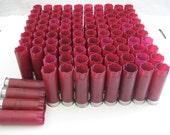 "Huge Lot 100 Empty Shotgun Shells/Hulls 12 gauge Federal(Burgundy) 2 3/4"" for multiple craft creations"