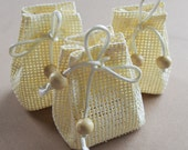 Mini Tote Sacks Burlap Bags Woven Straw, 12-pack, PSMCS7702