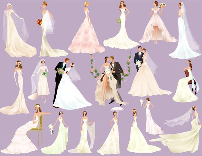 Bridal clipart   Etsy