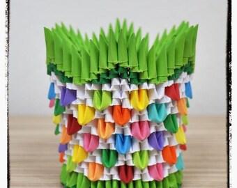 3D Origami Pen Holder