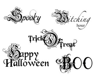 Halloween Word art. Digital files