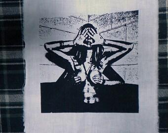 patch unicursal hexagram woman human fire mudra thelema ritual magick esoterism occultism mysticism