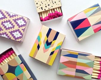 Decorative Matchboxes - set of 6