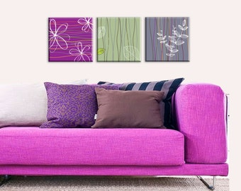 Popular items for flower canvas art on Etsy
