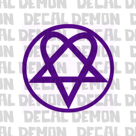 Heartagram HIM Band Logo Vinyl Decal by DecalDemon on Etsy