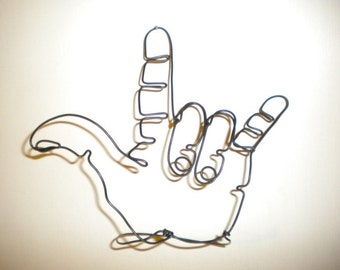 I Love You Handl Steel Wire Sculpture
