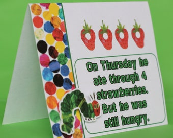 Very Hungry Caterpillar birthday party food tent labels / INSTANT DOWNLOAD / set of 5