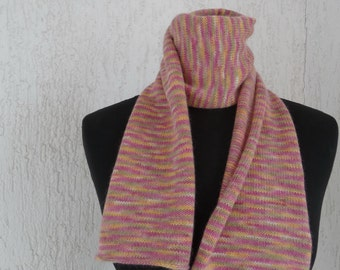 SALE -25 per cent ( was 38,00 euro) 100% Cashmere Scarf, pink, yellow and various colors,