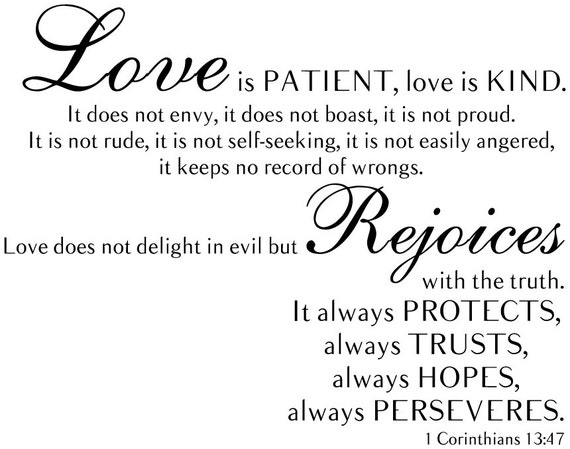 1 Corinthians 13:47 Love Is Patient Love Is Kind Bible