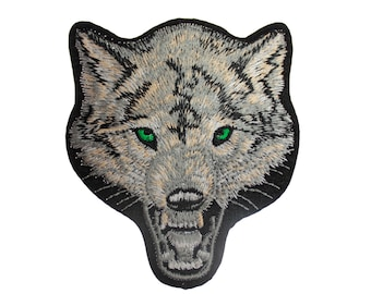 Embroidered Iron On Appliques patch Wolf NEW