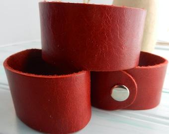 1.25 Inch Wide Genuine  Leather Cuff Bracelet - Cuff Wristband - One Cuff Blank