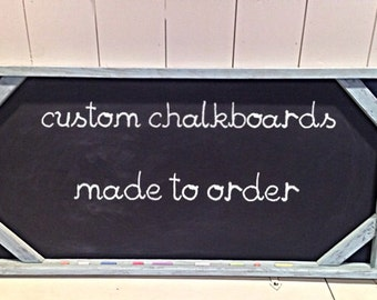 Country rustic chalkboard