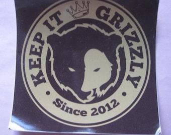 "University of Montana ""Keep It Grizzly"" Sticker - Missoula, Montana Grizzlies"