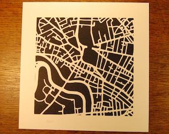 Harvard Square, Cambridge MA Map Cut