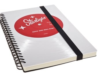 Personalized Journal made from white vinyl - Personalized Gift - Anniversary Gift