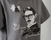 "Nikola Tesla ""Hipster Tesla"" Eco-Friendly Organic Cotton Tee, Nikola Tesla T-Shirt, Science Shirt, Styles for Men & Women Available"