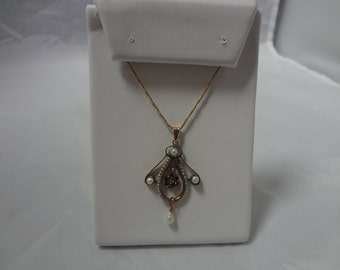 Beautiful 1800's Victorian Necklace 14K