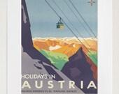Art Austria Poster Travel Print Vintage Austrian Home Decor (ZT103)