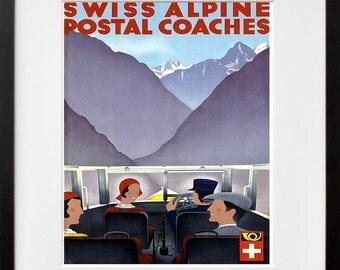 Swiss Travel Art Print Switzerland Home Decor (ZT276)