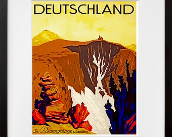 Germany Travel Art Print German Home Decor (ZT306)