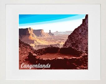 Canyonlands National Park Poster Utah Travel Art Print Home Decor (ZB17)