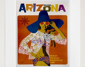 Arizona Art Wall Decor Retro Travel Poster  (ZT584)