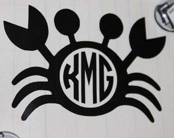 Monogram Crab Decal