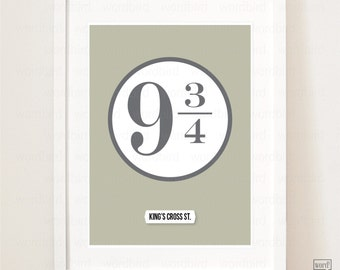 Boys Room Decor, Harry Potter Platform 9 3/4 Poster, Gift for him, Boys birthday gift