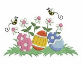 Easter Cute Egg Holiday Machine Embroidery Design Instant Download 4x4 hoop