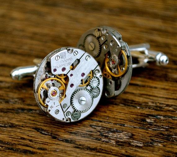 Wedding Gift Cufflinks For Groom : ... 20mm Cufflinks Steampunk Vintage Wedding Groom Gift Mens Retro Present