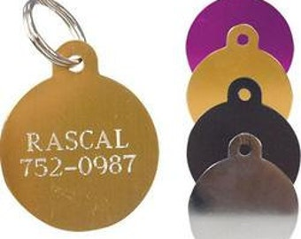 Large Circle Pet ID Tag with Split Ring