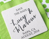 Personalized Save-the-Date Coasters Set of 50