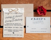 Burlap Charm Invitation {...