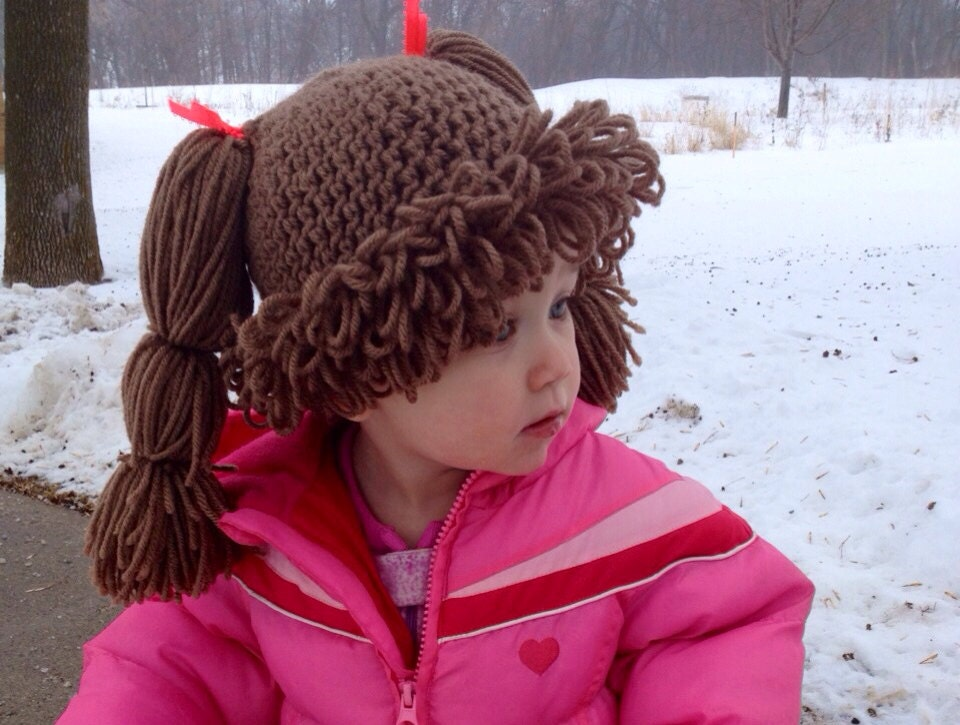 Baby Cabbage Patch Crochet Hat