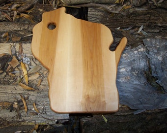 wisconsin shape cutting board