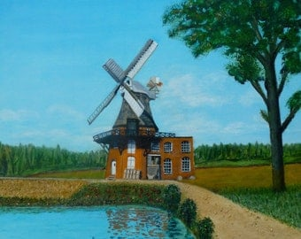 Old Handorfer Mill Oil Painting