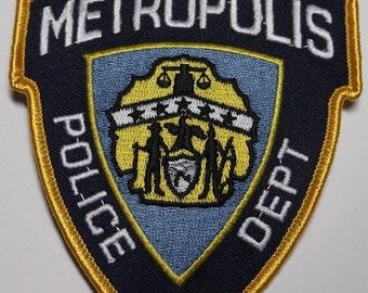 Superman City Of Metropolis Police Department Logo Patch