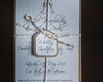 Champagne Wedding Invitation