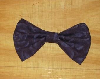 Dark Purple Rose Hair Bow