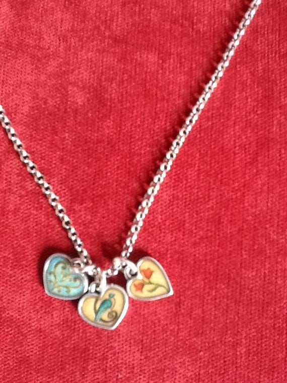 Vintage Brighton Picadilly Heart Necklace Inspirational