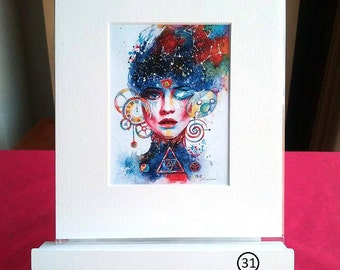 Small Mounted Print: Activation 1