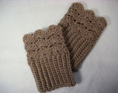 Size Small Brown Crochet Boot Cuff  Boot Topper Boot Sock