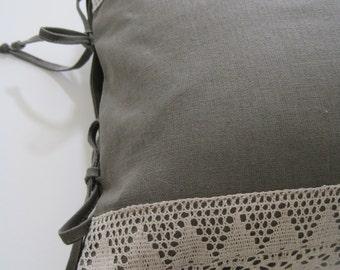 """Linen Decorative Pillow Cover (14""""x 26"""")."""