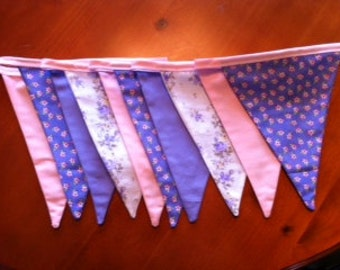Pretty Lilac and Pink  Bunting