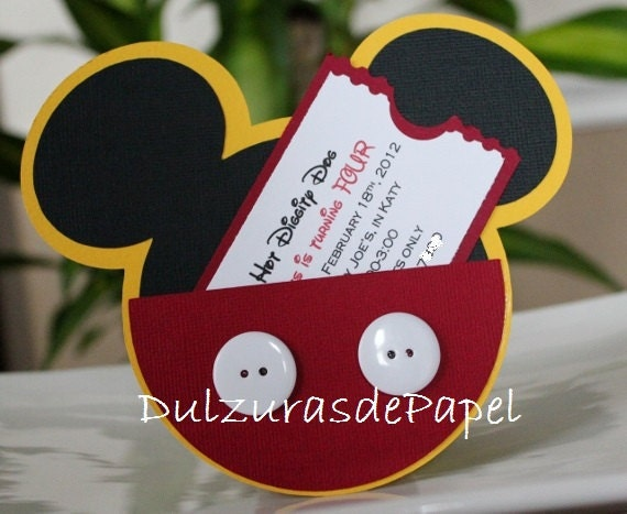 Favoloso Mickey Mouse Birthday Party Invitations | Birthday Wikii NE87